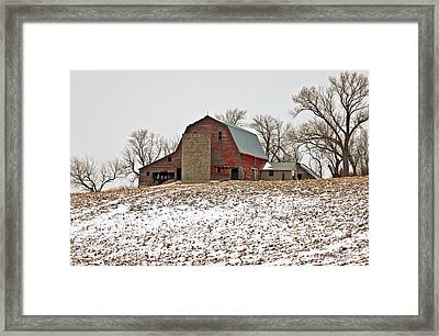 Old Red Barn Framed Print by Edward Peterson