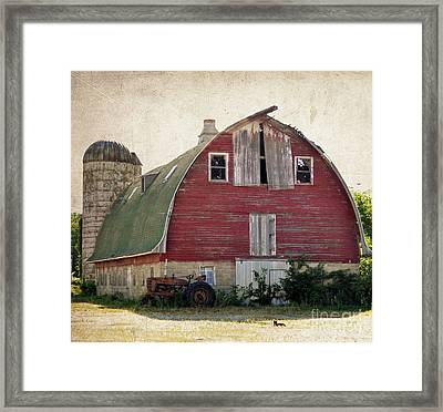 Old Red Barn Framed Print by Tamera James