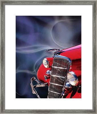 Old Red Hotrod Framed Print by Diana Shively