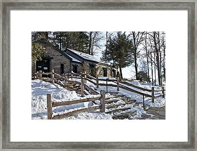 Framed Print featuring the photograph Old Rock Building  by Susan Leggett