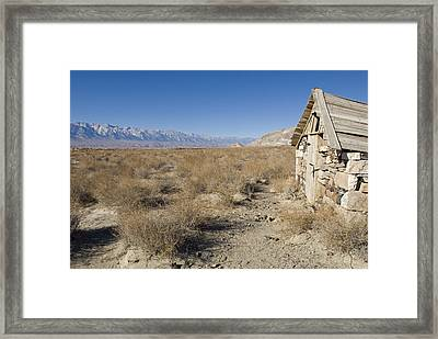 Old Rock Cabin At Dolomite Framed Print by Rich Reid