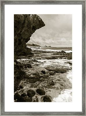Old Rock Framed Print by Goran Besenski