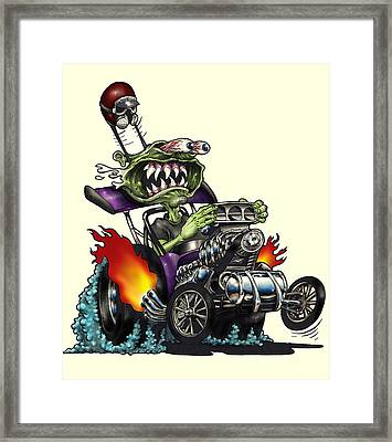 Old Rod Framed Print by Jon Towle