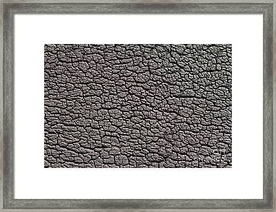 Framed Print featuring the photograph Old Rubber Tire Surface  by Les Palenik