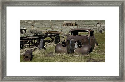 Old Rusted Car Framed Print by Richard Balison