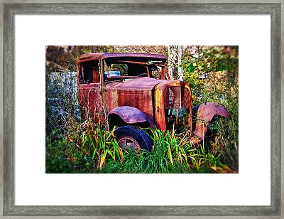 Old Rusting Truck Framed Print by Garry Gay