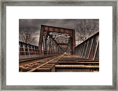Old Rusty Bridge Framed Print by Darren Landis