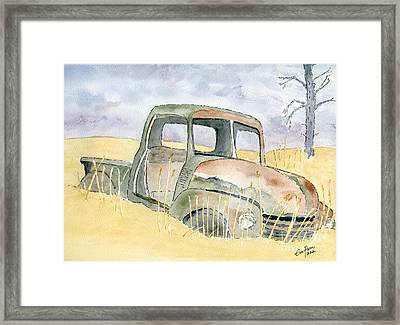 Old Rusty Truck Framed Print by Eva Ason