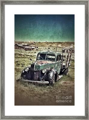 Old Rusty Truck Framed Print by Jill Battaglia
