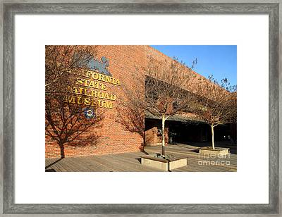 Old Sacramento California . California State Railroad Museum . 7d11709 Framed Print by Wingsdomain Art and Photography