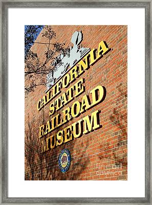 Old Sacramento California . California State Railroad Museum . 7d11712 Framed Print by Wingsdomain Art and Photography