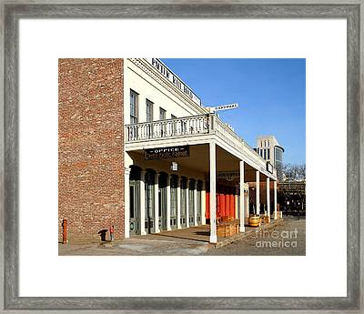 Old Sacramento California . Central Pacific Railroad Office Building . 7d11699 Framed Print by Wingsdomain Art and Photography