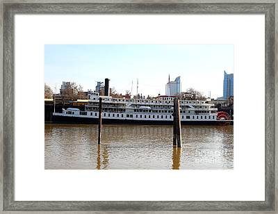 Old Sacramento California . Delta King Hotel . Paddle Wheel Steam Boat . 7d11434 Framed Print by Wingsdomain Art and Photography
