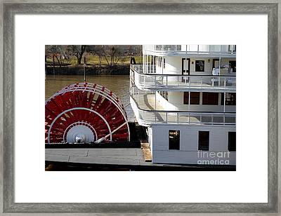 Old Sacramento California . Delta King Hotel . Paddle Wheel Steam Boat . 7d11526 Framed Print by Wingsdomain Art and Photography