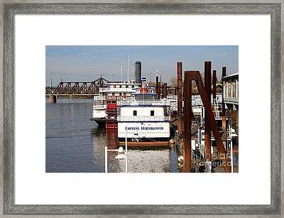 Old Sacramento California . Empress Hornblower . Delta King Hotel . Paddle Wheel Steam Boat . 7d1153 Framed Print by Wingsdomain Art and Photography