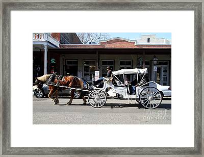 Old Sacramento California . Horse Drawn Buggy . 7d11482 Framed Print by Wingsdomain Art and Photography