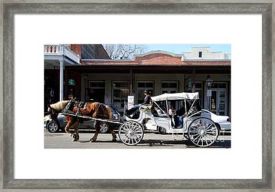 Old Sacramento California . Horse Drawn Buggy . Long Cut . 7d11482 Framed Print by Wingsdomain Art and Photography