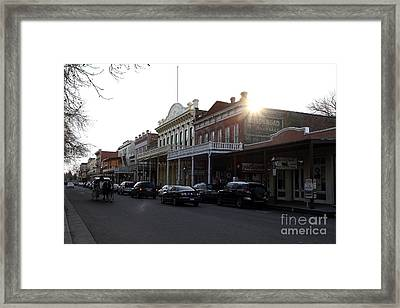 Old Sacramento California In Partial Silhouette . 7d11716 Framed Print by Wingsdomain Art and Photography