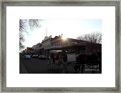 Old Sacramento California In Partial Silhouette . 7d11719 Framed Print by Wingsdomain Art and Photography