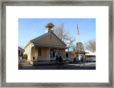 Old Sacramento California . Schoolhouse Museum . 7d11578 Framed Print by Wingsdomain Art and Photography