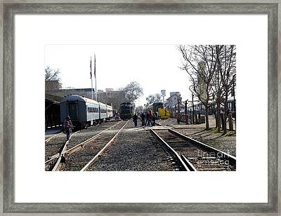 Old Sacramento Train Station Depot . 7d11635 Framed Print by Wingsdomain Art and Photography