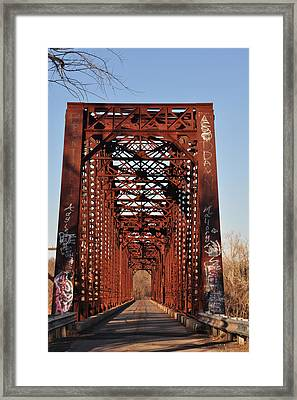 Old Sante Fe Bridge Framed Print