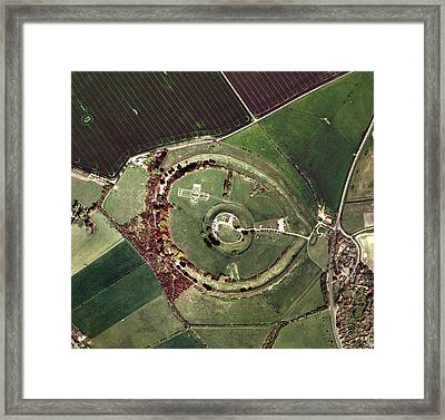 Old Sarum Framed Print by Getmapping Plc