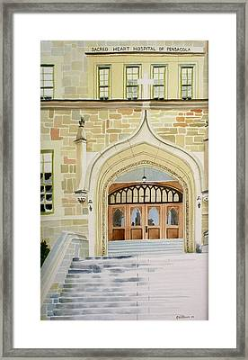 Old Scared Heart Hospital Framed Print by Richard Willows