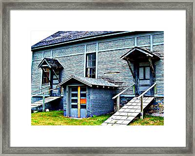 Framed Print featuring the photograph Old School Cheboygan by MJ Olsen