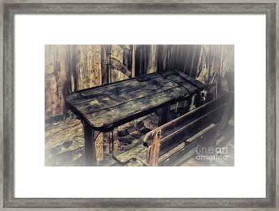 Old School Desk Framed Print by Jutta Maria Pusl