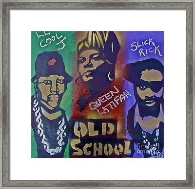 Old School Hip Hop Framed Print