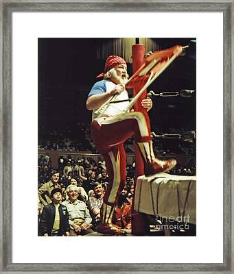 Framed Print featuring the photograph Old School Wrestling From The Cow Palace With Moondog Mayne by Jim Fitzpatrick