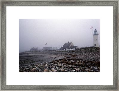 Old Scituate Lighthouse Framed Print by Skip Willits