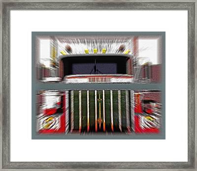 Old Semi - Head-on - Diptych Framed Print by Steve Ohlsen