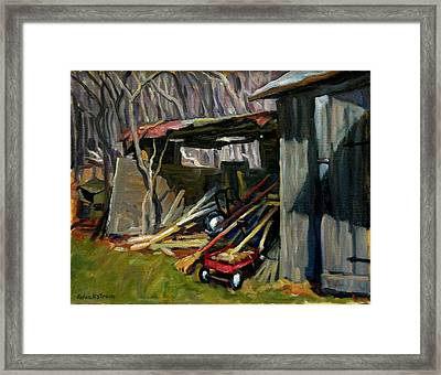 Old Shed Berkshires Framed Print by Thor Wickstrom