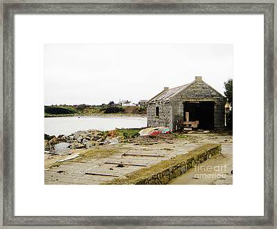 Old Shed By The Sea Framed Print by Alan MacFarlane