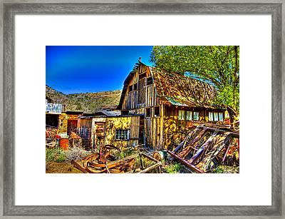 Old Shed Framed Print by Jon Berghoff