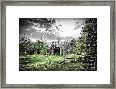 Old Shed Framed Print by Lori Frostad