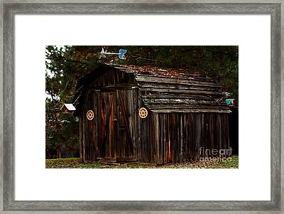 Old Shed Oakhurst Framed Print by Marjorie Imbeau