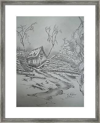 Old Shed Framed Print by Tom Rechsteiner
