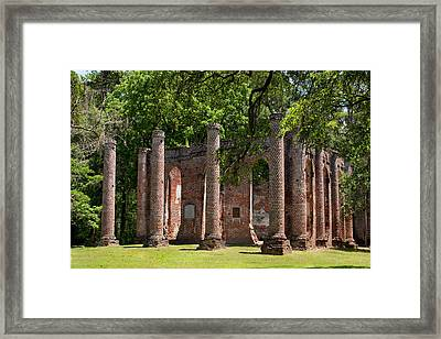 Old Sheldon Church Framed Print by Sandra Anderson