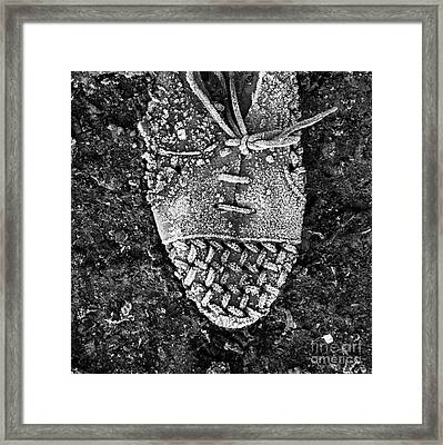 Old Shoe Framed Print by Bernard Jaubert