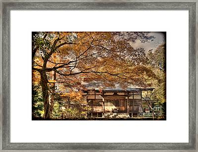 Old Shrine In Autum Framed Print
