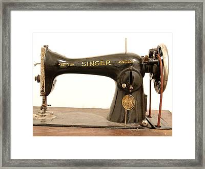 Old Singer 2 Framed Print