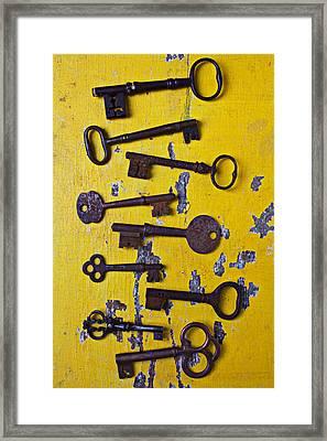 Old Skeleton Keys Framed Print by Garry Gay