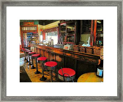 Old Soda Shoppe Framed Print by Joyce Kimble Smith