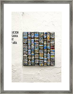 Old Spanish Postcards In Spanish Village Framed Print by Perry Van Munster
