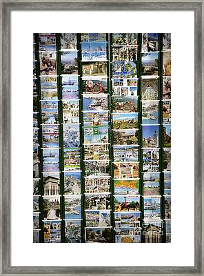 Old Spanish Postcards1 Framed Print by Perry Van Munster
