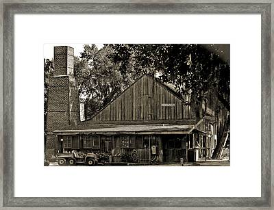 Old Spanish Sugar Mill Old Photo Framed Print by DigiArt Diaries by Vicky B Fuller