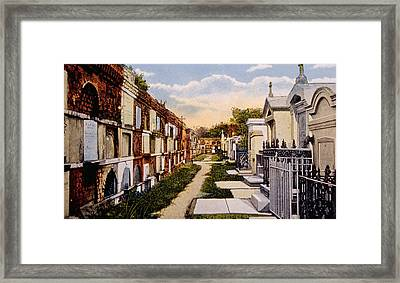 Old St. Louis Cemetery, New Orleans Framed Print by Everett